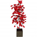 Tree Berry potted, D35cm, H72cm, red